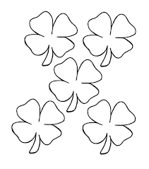 Small Four Leaf Clover Coloring Pages