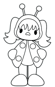 Ladybug Coloring Pages For Preschoolers Girl And The Bug Squad Costume Full Size