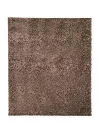 shaggy teppich wohnzimmer braun hochflor langflor flauschig einfarbig modern