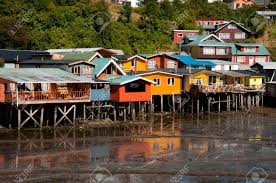 100 Houses In Chile Palafito Castro Stock Photo Picture And Royalty