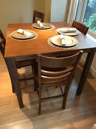 Dining Room Table And 4 Chair Set Bar Height Furniture In Seattle WA
