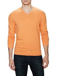 Barrow And Grove Orange Mens Sweater Summer NightsFashion