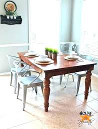 Farm Style Dining Chairs Farmhouse Industrial Table With Metal Awe For An In