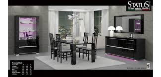 Armonia Black Italian Modern Dining Room Set By Status Italy