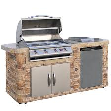 Amazon Cal Flame LBK 701 AS Cultured Stone Grill Island With