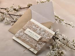 Amazing Rustic Wedding Invitation Lace Ribbon