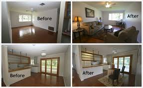 Before And After Staging Decorating Reno A Home Property For Buyer Viewing