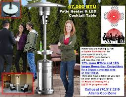 47 000 BTU Patio Propane Heater Rental Atlanta Georgia