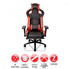 Thermaltake GT FIT Gaming Chair - Red & Black Office Essentials Respawn400 Racing Style Gaming Chair Big And Cg Ch80 Red Circlect Hero Blackred Noblechairs Arozzi Monza Staples Killabee Recling Redblack 9015 Vernazza Vernazzard Nitro Concepts S300 Ex In Casekingde Costway Executive High Back Akracing Arc Series Casino Kart Opseat Master