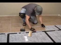 unique heated tile floor installation how to install a suntouch