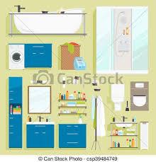 badezimmer ausrüstung vektor icons