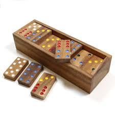 Classic Wooden Dominoes Set