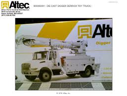 100 Derrick Trucks Altec 134 Scale Die Cast Digger Truck Altec Inc