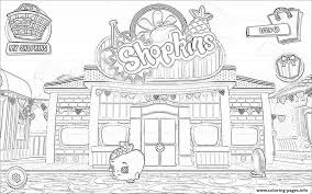 Shopkins Welcome To Shopville Game Coloring Pages Print Download 539 Prints