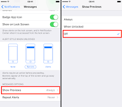 How to hide text messages & email notification previews from the