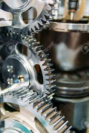 100 Gear Truck Wheels Cogs S And Inside Diesel Engine Stock Photo