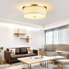 oukaning moderne led deckenleuchte rundes stofflicht textil elegantes deckenle dimmbar für wohnzimmer schlafzimmer kinderzimmer e27