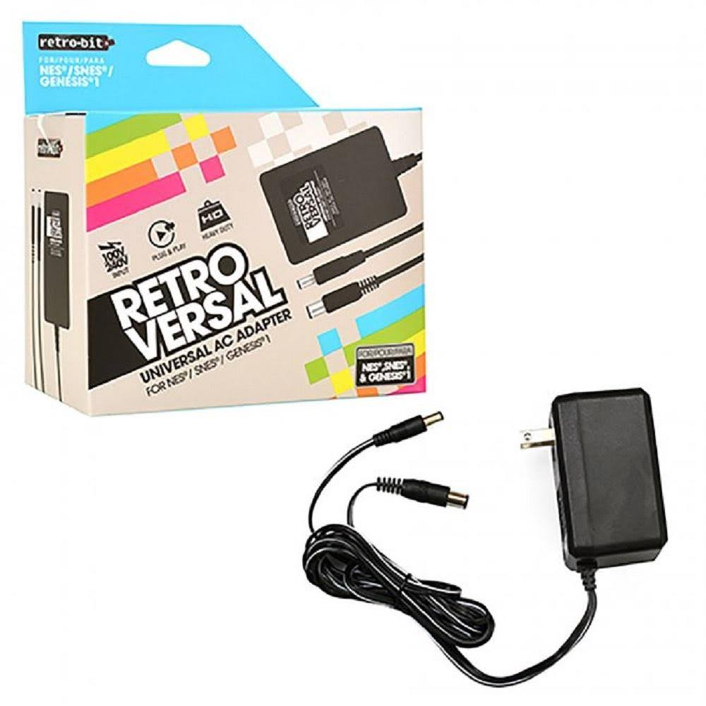 Retro Bit Universal 3 in 1 AC Adapter