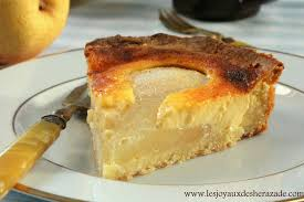 tarte normande aux poires les joyaux de sherazade