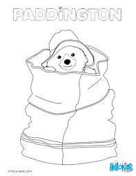 Paddington Hidden In A Bag Coloring Page