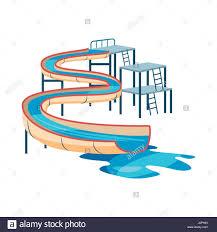 Waterslide In Pool Icon Cartoon Style