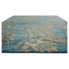 Teal Living Room Rug by Hand Tufted Timeless Paisley Teal Area Rug Target