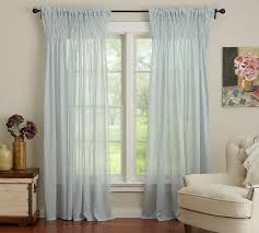 Sheer Cotton Voile Curtains by Smocked Drape Pottery Barn