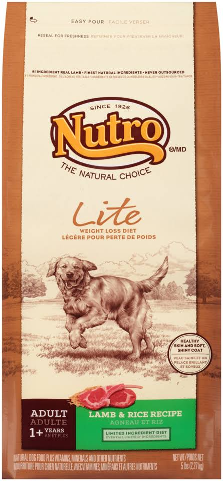 Nutro Natural Choice Lite Adult Dog - Lamb & Whole Brown Rice, 5lb