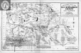 Road Map Of San Bernardino County California