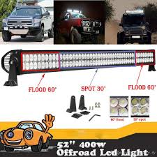 52 400W Led Light Bar Combo Beam Working Light For Offroad Truck ... 2019 5 Inch 72w Led Work Light Bar Offroad Flood Beam Led 2 Auto Car Truck Trailer Caravan Side Marker Clearance 8pc Ledglow Truck Bed White Lighting Light Kit For Chevy Dodge Costway 12v Mp3 Kids Ride On Jeep Rc Remote Factoryinstalled Strobe Warning Lights Will Be Available On Dc12 24v Cob In The Grid Grille Police Are Caps Partners With Rigid To Shine Bright Db Link Solutions Bulldog Lighting 6 Light Mounted A Weston Plow Dodge 2500 Rideon Toy W 3 Speeds