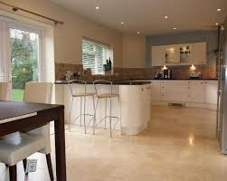 Photo Of Open Plan Beige Brown Kitchen Diner