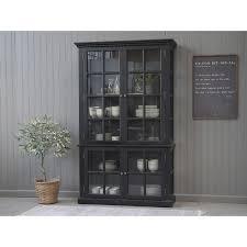 vitrinenschrank 4 türig recyclingholz esszimmer französische vitrine