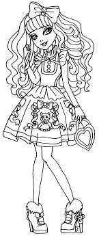 A Coloring Page Of Blondie Locks From Ever After High