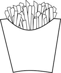 French Fries Line Art Clip Art