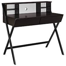 Wayfair Desks With Hutch by Amazon Com Modway Trove Office Desk In Dark Walnut Kitchen U0026 Dining