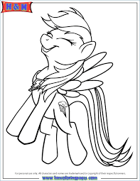 Delighted My Little Pony Coloring Pages Rainbow Dash At The Gala