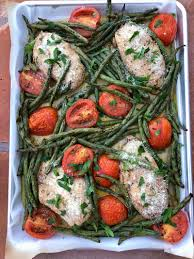 Tuscan Chicken Sheet Pan Dinner