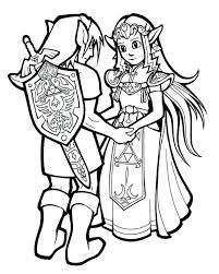 Toon Zelda Coloring Pages Link Twilight Princess For Adults