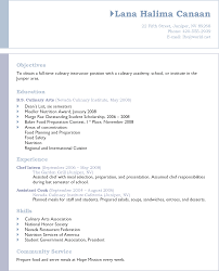 33 Culinary Arts Resume Sample Example 47 College Of