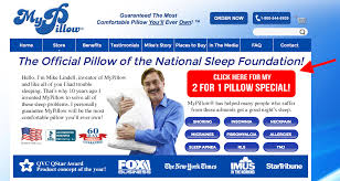 Indeed the MyPillow homepage