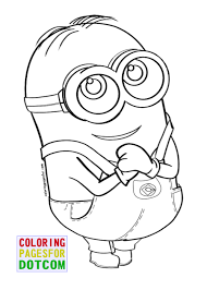 Free Printable Minion Coloring Pages 06 Within New