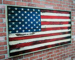 Wood American Flag Wall Art Wooden