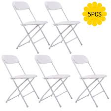 100 Event Folding Chair Amazoncom 5 Commercial White Plastic S Stackable