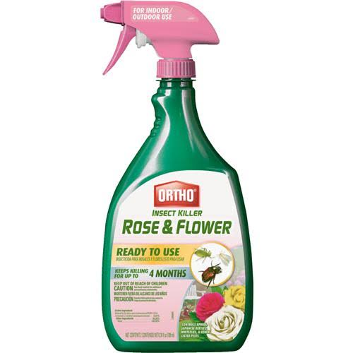 Scotts Ortho Roundup Ready To Use Rose and Flower Insect Killer Spray - 24oz