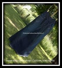 delarosa custom to your size maternity jean skirt long length