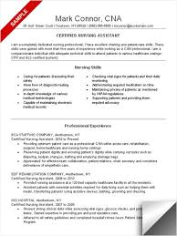 Cna Resume Sample Skills And Qualifications By Mark Connor