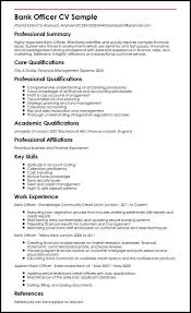 Bank Officer Cv Sample Myperfectcv Rh Co Uk Curriculum Vitae Samples