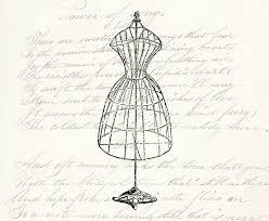 Vintage Dress Form Digital Download Clipart