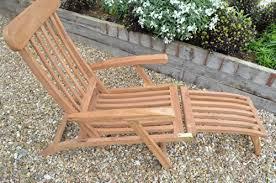 winchester luxury solid teak multi position garden steamer chair