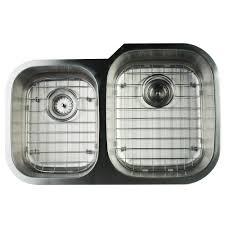 Houzer Sinks Home Depot by Houzer Medallion Undermount 32 In Offset Single Bowl Kitchen Sink